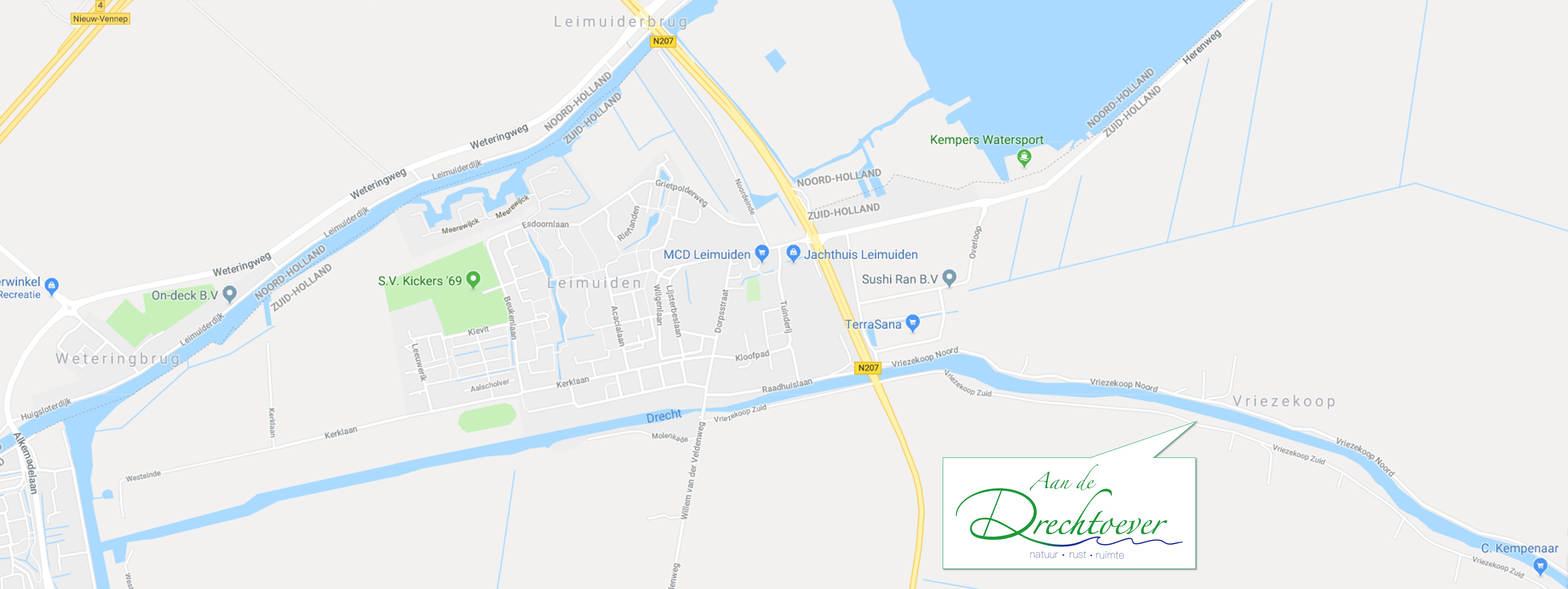 Landkaart Drechtoever1